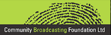 We are members of Community Broadcasting Foundation
